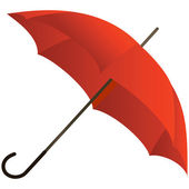 The red umbrella represented — Stock Vector