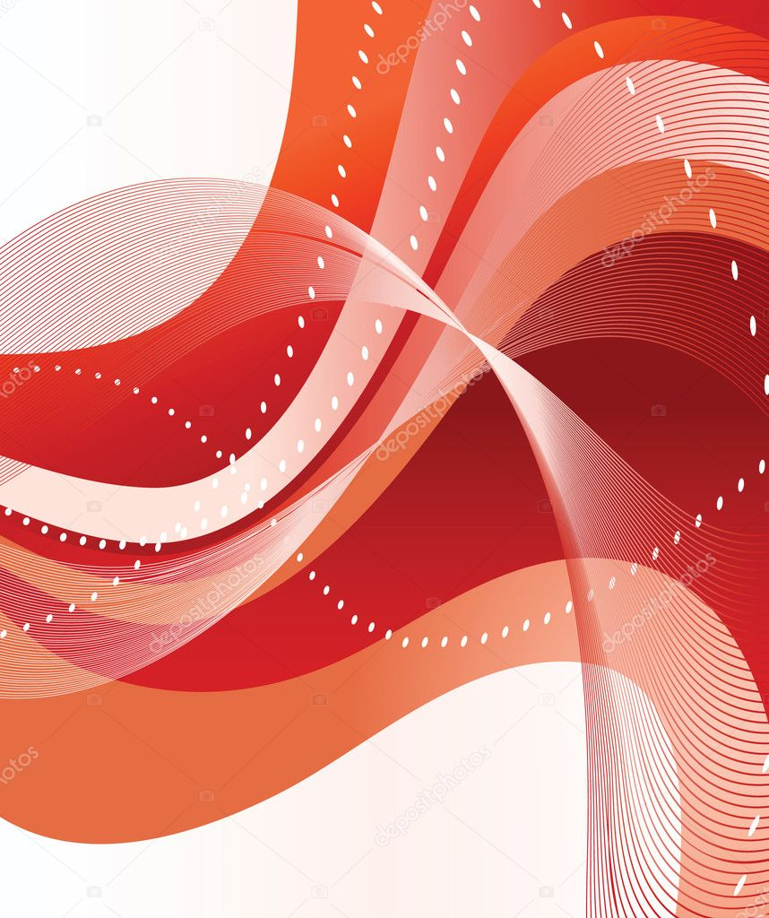 Abstract red background. Vector illustration — Stock vektor #2800616