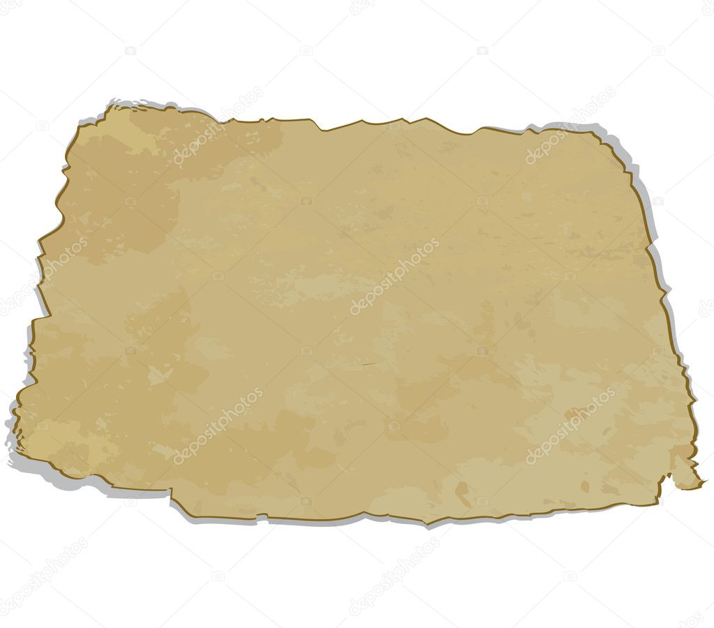 The old torn paper isolated on a white background — Stock Vector #2800834