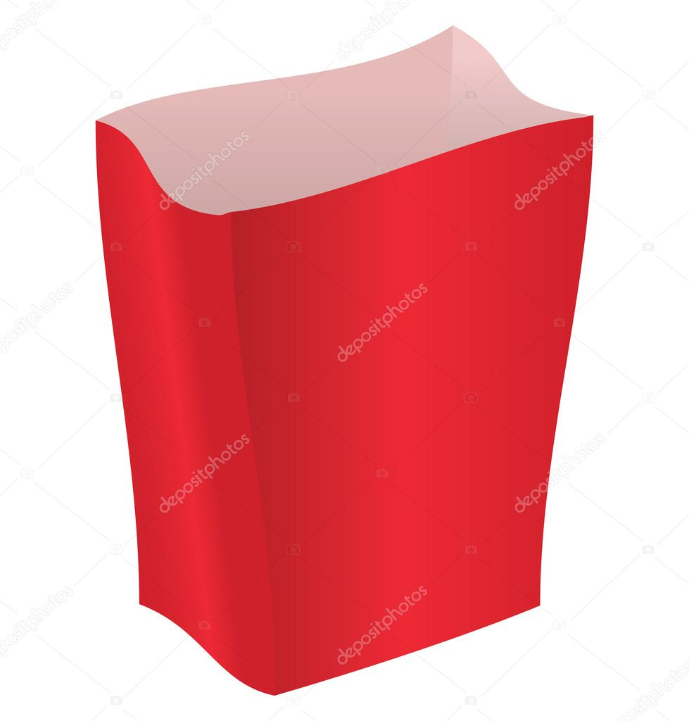 Red striped package on a white background — Stock vektor #2800927