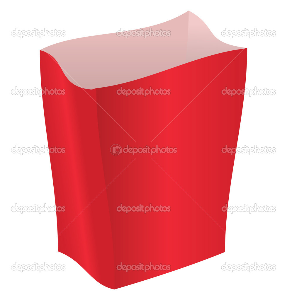 Red striped package on a white background — Image vectorielle #2800927