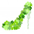 Shoes from the green flowers — Image vectorielle