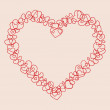 Valentine background with hearts. Vector illustration — Stock Vector