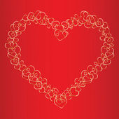 Valentine background with hearts. Vector illustration — Vector de stock