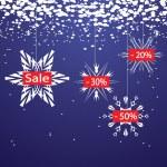 Boże Narodzenie tło z płatki śniegu — Wektor stockowy