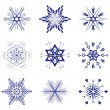 Beautiful vector snowflakes — Vettoriali Stock