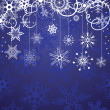Christmas background with snowflakes — Imagen vectorial