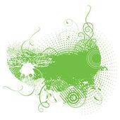 Grunge achtergrond in groene kleur — Stockvector