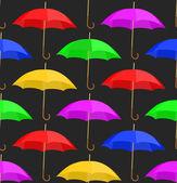 Bezszwowe tło z parasolami — Wektor stockowy