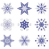 Beautiful vector snowflakes — Stock Vector