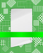 The sheet of paper attached to a checkered structure — Stock Vector