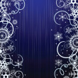 Winter blue background with snowflakes — 图库矢量图片 #3779843