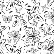 Royalty-Free Stock Vector Image: Seamless a background with black butterflies