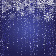Royalty-Free Stock Vektorgrafik: Winter blue background with snowflakes