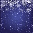 Winter blue background with snowflakes - 