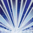Winter blue background with snowflakes — Vector de stock #3834596