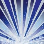 fond d'hiver bleu avec des flocons de neige — Vecteur