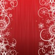 Royalty-Free Stock Vector Image: Winter red background with snowflakes