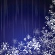 Winter blue background with snowflakes — Image vectorielle