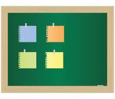 El documento vacío que se adjunta a una junta escolar. Eps10 — Vector de stock