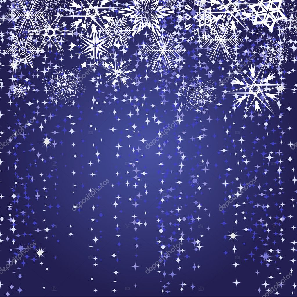 Winter blue background with snowflakes. Vector illustration  Stok Vektr #3834529
