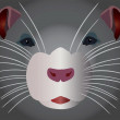 Vector de stock : Grey rodent