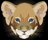 Lion cub — Vector de stock