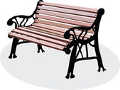 A bench is in a park — Stock Photo