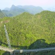 Suspension bridge in Langkawi hills — Stock Photo