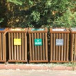 Recycle bins for waste segregation — 图库照片