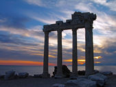 Tempel van apollo, side, turkije — Stockfoto