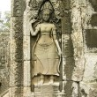 Stock Photo: Bas-relief with Apsara, Angkor Wat