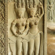 Bas-relief with Apsaras, Angkor Wat — Stock Photo