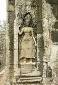 Bas-relief with Apsara, Angkor Wat — Stock Photo