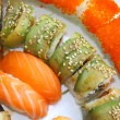 Close-up japanese colourful sushi set — Stock Photo #2899847