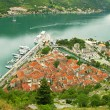 Kotor old town and Kotor bay, Montenegro — Stock Photo