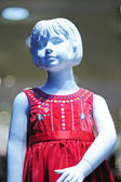 Dummy of the girl in a red dress — Stok fotoğraf