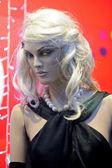 Female dummy in shop — Stock Photo