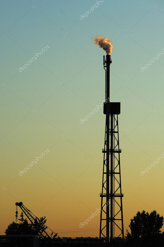 Petroleum industry. Factory industry, oil, fuel, sky, power, generation, plant, refinery,  Stock Photo #3442981