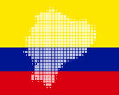 Map and flag of Ecuador — Stock Photo