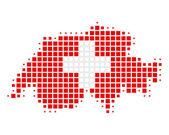 Map and flag of Switzerland — Stock Photo