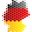 Map and flag of Germany — Stock Photo #3264743