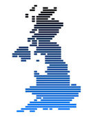 Map of Great Britain — Stock Photo