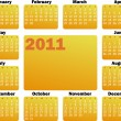 Calendar for 2011 — Stock Vector #2721292