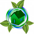 Green eco house - Stock vektor
