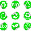 Stock Vector: Green environment and recycle icons