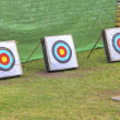Three archery targets — Stock Photo