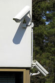Two security cameras — Stock Photo