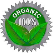 Organic product label — Stock Vector