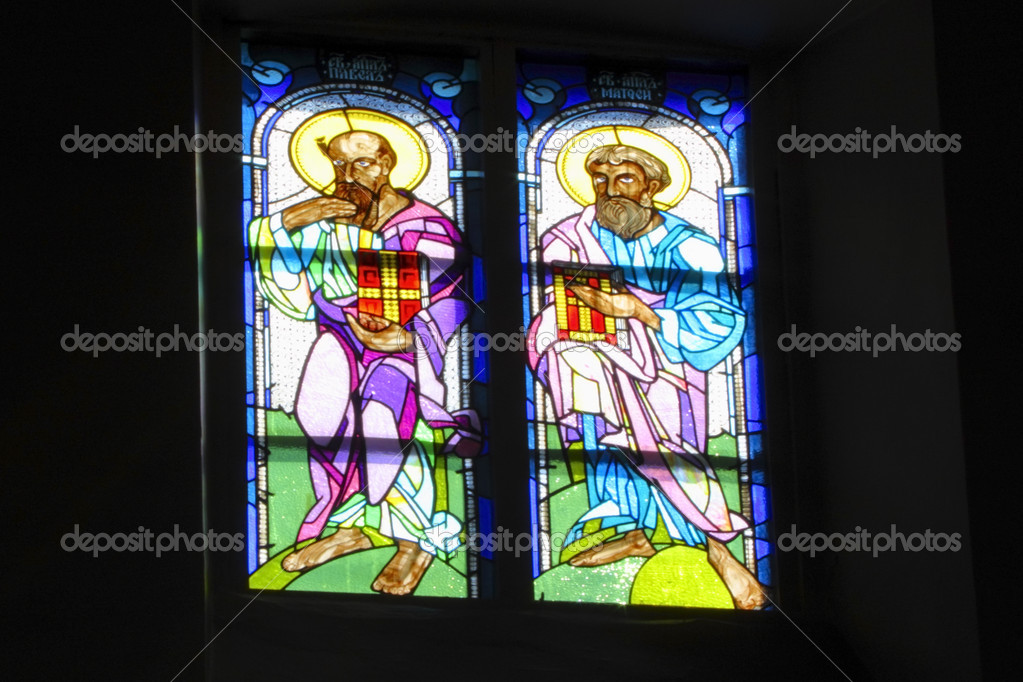 Stained glass window in the chirch — Stock Photo #3636785